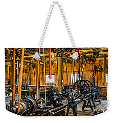 Old School Machine Shop Weekender Tote Bag