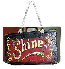 Old Shoe Shine Kit Weekender Tote Bag