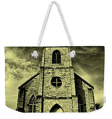 Old St. Mary's Church In Fredericksburg Texas In Sepia Weekender Tote Bag