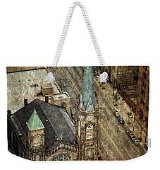 Old Stone Church Weekender Tote Bag