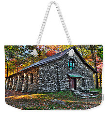 Old Stone Lodge Weekender Tote Bag by Anthony Sacco