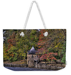 Weekender Tote Bag featuring the photograph Old Stone Tower At The Edge Of The Forest by Jonny D