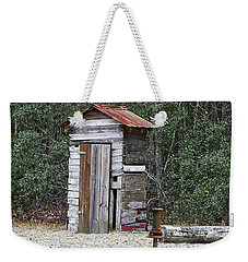 Old Time Outhouse And Pitcher Pump Weekender Tote Bag