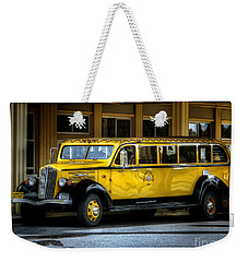 Old Time Yellowstone Bus II Weekender Tote Bag by David Lawson