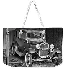 Weekender Tote Bag featuring the photograph Old Timer by Victor Montgomery