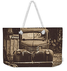 Weekender Tote Bag featuring the photograph Old Times by Alana Ranney