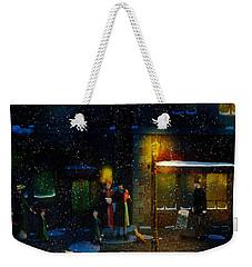 Old Town Christmas Eve Weekender Tote Bag by Ken Morris
