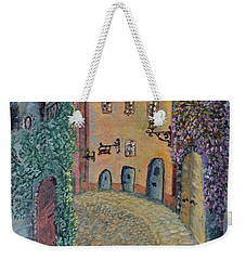 Weekender Tote Bag featuring the painting Old Town In Piedmont by Felicia Tica