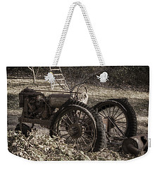 Weekender Tote Bag featuring the photograph Old Tractor by Lynn Geoffroy