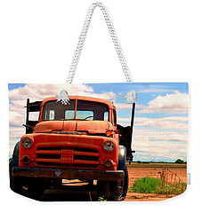 Weekender Tote Bag featuring the photograph Old Truck by Matt Harang