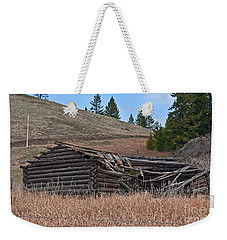 Old Turn Of The Century Log Cabin Homestead Art Prints Weekender Tote Bag