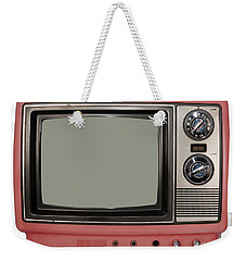 Vintage Tv Set Weekender Tote Bag