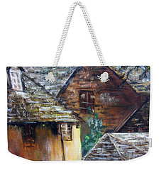 Old Village Weekender Tote Bag