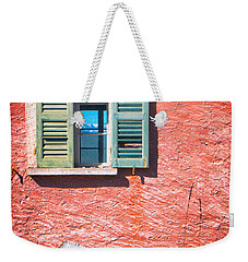 Weekender Tote Bag featuring the photograph Old Window With Reflection by Silvia Ganora