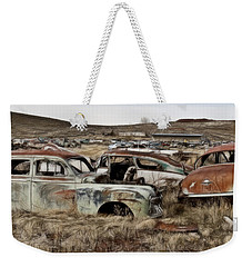 Old Wrecks Weekender Tote Bag
