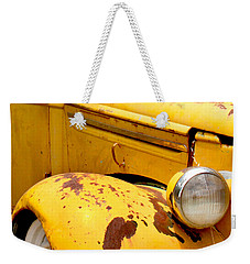 Old Yellow Truck Weekender Tote Bag by Art Block Collections