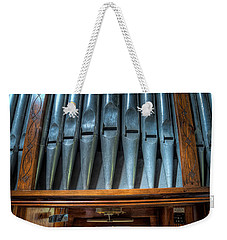 Weekender Tote Bag featuring the photograph Olde Church Organ by Adrian Evans
