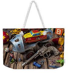 Older Roller Skate And Toys Weekender Tote Bag by Garry Gay