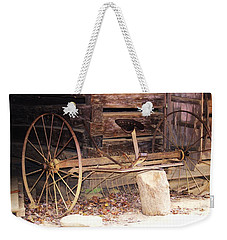 Weekender Tote Bag featuring the photograph Ole Wheely by Faith Williams
