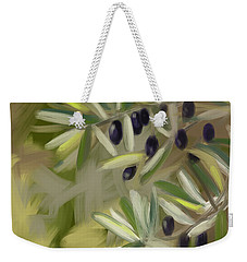 Weekender Tote Bag featuring the painting Olive Tree by Go Van Kampen
