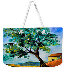 Olive Tree On The Hill Weekender Tote Bag