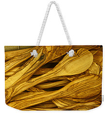 Olive Wood Weekender Tote Bag