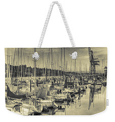 Weekender Tote Bag featuring the photograph Olympia Marina 3 by Jean OKeeffe Macro Abundance Art