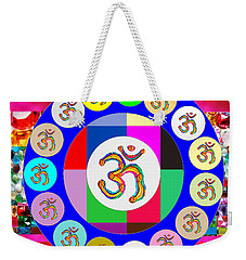 Om Mantra Dedication  Devotion Symbol Assembly By Artist N Reiki Healing Master Navinjoshi Weekender Tote Bag