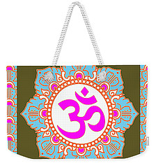Weekender Tote Bag featuring the photograph Om Mantra Ommantra 3 by Navin Joshi