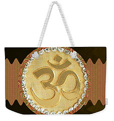 Om Mantra Ommantra Hinduism Symbol Sound Chant Religion Religious Genesis Temple Veda Gita Tantra Ya Weekender Tote Bag
