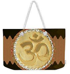 Om Mantra Ommantra Hinduism Symbol Sound Chant Religion Religious Genesis Temple Veda Gita Tantra Ya Weekender Tote Bag by Navin Joshi