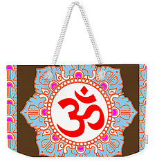 Weekender Tote Bag featuring the photograph Om Mantra Ommantra by Navin Joshi