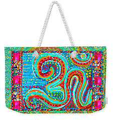 Om Mantra Ommantra Symbol Yoga Meditation Spiritual Work Weekender Tote Bag