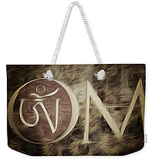 Weekender Tote Bag featuring the photograph Om Sepia by Cindy Greenstein