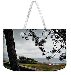 Omaha Beach Under Trees Weekender Tote Bag