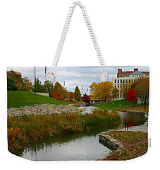 Weekender Tote Bag featuring the photograph Omaha In Color by Elizabeth Winter