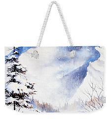 Weekender Tote Bag featuring the painting O'malley Peak by Teresa Ascone