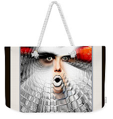 Weekender Tote Bag featuring the painting OMG by Rafael Salazar