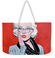 Weekender Tote Bag featuring the painting OMG by Tom Roderick