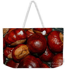 Weekender Tote Bag featuring the photograph On A Open Fire by Tikvah's Hope