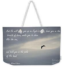 On Eagle's Wings Weekender Tote Bag