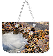 On Frozen Pond Collection 6 Weekender Tote Bag by Roxy Hurtubise