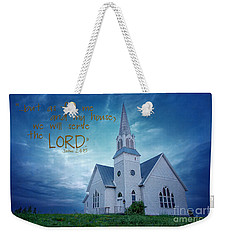 On Hallowed Ground - Bible Verse Weekender Tote Bag by Beve Brown-Clark Photography
