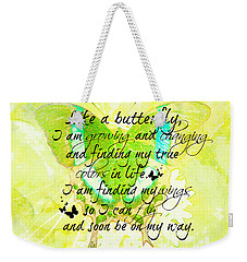 On My Way Weekender Tote Bag
