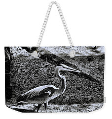 Weekender Tote Bag featuring the photograph On Patrol by Robert McCubbin