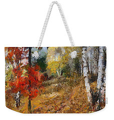 On The Edge Of The Forest Weekender Tote Bag by Dragica  Micki Fortuna