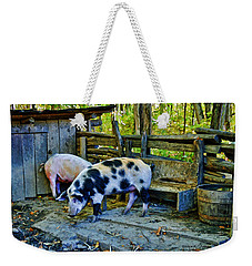 On The Farm Weekender Tote Bag by Kenny Francis