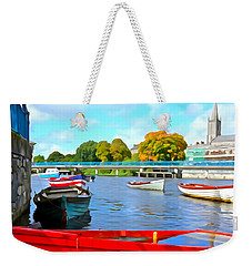 Weekender Tote Bag featuring the photograph On The Garavogue by Charlie and Norma Brock