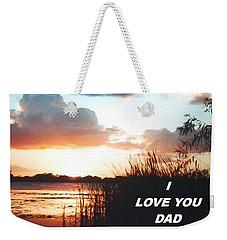 Lake Deer At Sunrise Weekender Tote Bag