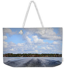 Weekender Tote Bag featuring the photograph On The Lake by Debra Forand